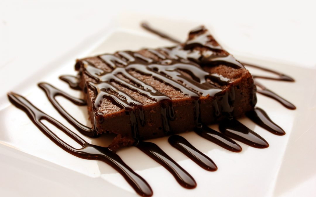 Healthy chocolate dessert
