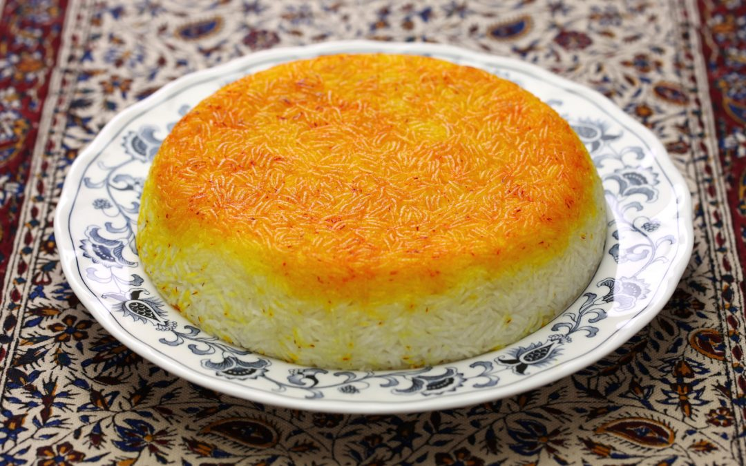 Chelo with Tahdig. A Traditional Persian Rice.